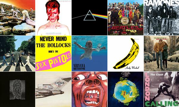 Alguns dos discos da tal lista